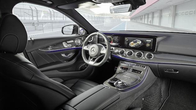 Mercedes-AMG E 63 S, Interior; Kraftstoffverbrauch kombiniert: 9,2 – 8,9l/100 km; CO2-Emissionen kombiniert: 209 - 203 g/km // Mercedes-AMG E 63 S, interior ; Fuel consumption combined: 9,2 – 8,9 l/100 km; Combined CO2 emissions: 209 - 203 g/km