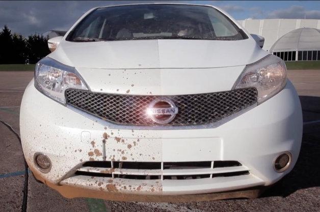 【ビデオ】洗車不要!? 日産がナノ塗装によるセルフクリーニング技術をテスト!!