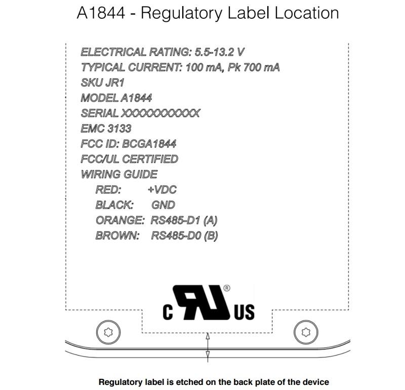 A1844 FCC diagram