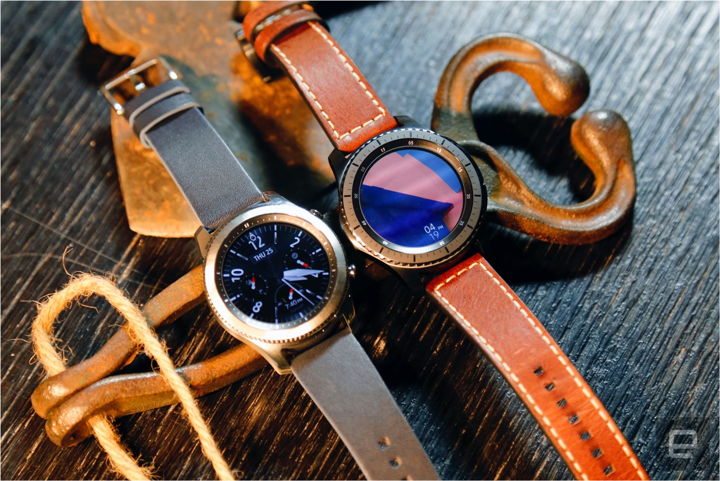 041f842d7faa Pictured above  Samsung s Gear S3 Frontier and Classic. Man