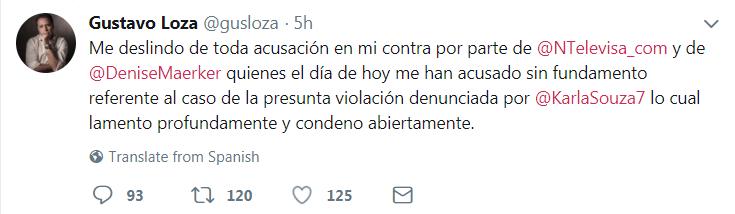 Televisa rompe con Gustavo Loza luego de las acusaciones de violación de Karla