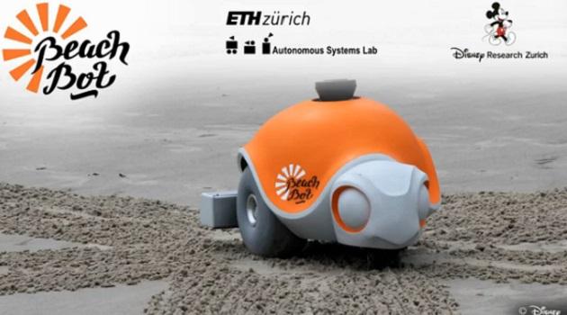 【ビデオ】ディズニーが開発した、砂浜に絵を描くバギー型ロボット「ビーチボット」