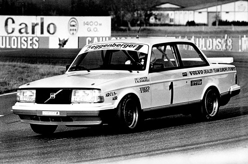 The Volvo 240 Turbo 'Flying Brick' that won the 1985 European Touring Car Championship.