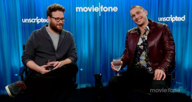 the interview unscripted with seth rogen and james franco