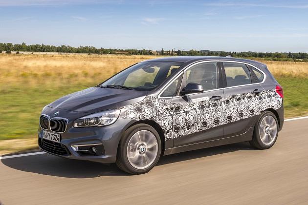 BMW、「2シリーズ アクティブ ツアラー」プラグイン・ハイブリッド仕様のプロトタイプを公開