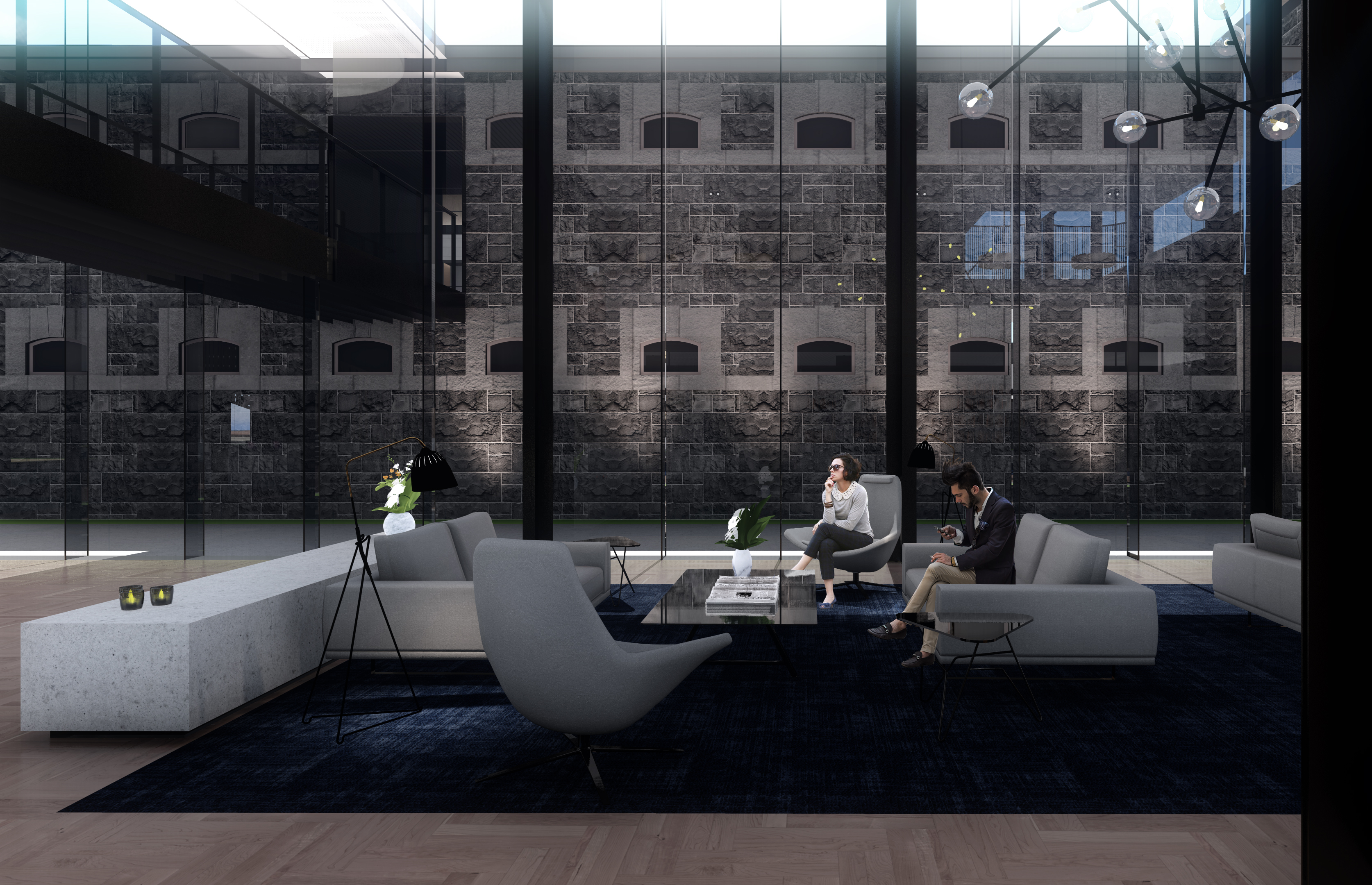 The original prison's facade can still be seen but modern architecture will create the sumptuous