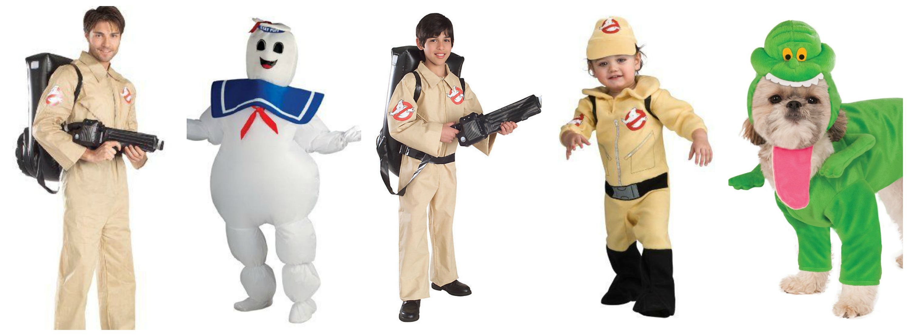 Ghostbusters Family Halloween Costumes