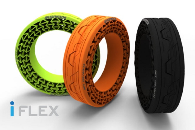 ハンコック、空気のいらないタイヤ「iFlex」の最新試作品を発表