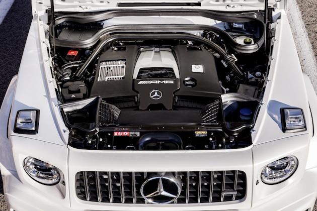 Mercedes-AMG G 63. Exterieur: designo mysticweiß bright, Exterieur-Edelstahl-Paket. Interieur: designo Leder macchiatobeige;Kraftstoffverbrauch kombiniert: 13,2 l/100km; CO2-Emissionen kombiniert: 299 g/km*  Mercedes-AMG G 63. Exterior: designo mysticwhite bright, Exterior-Stainless steel-Packet. Interior: designo leather macchiato beige;Fuel consumption combined: 13,2 l/100km; CO2-emissions combined: 299 g/km*
