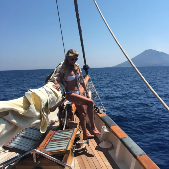 Christie Brinkley shares pictures from Mediterranean sailing holiday