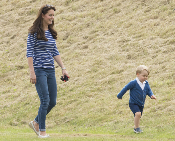 Mandatory Credit: Photo by Tim Rooke/REX Shutterstock (4848276bd) Catherine Duchess of Cambridge and Prince George British Royals at Beaufort Polo Club, Gloucestershire, Britain - 14 Jun 2015