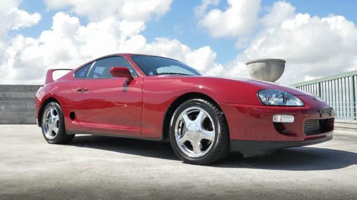 Toyota Supra red fron
