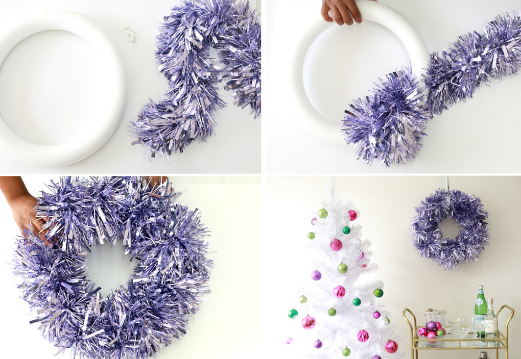 how to make a wreath out of garland