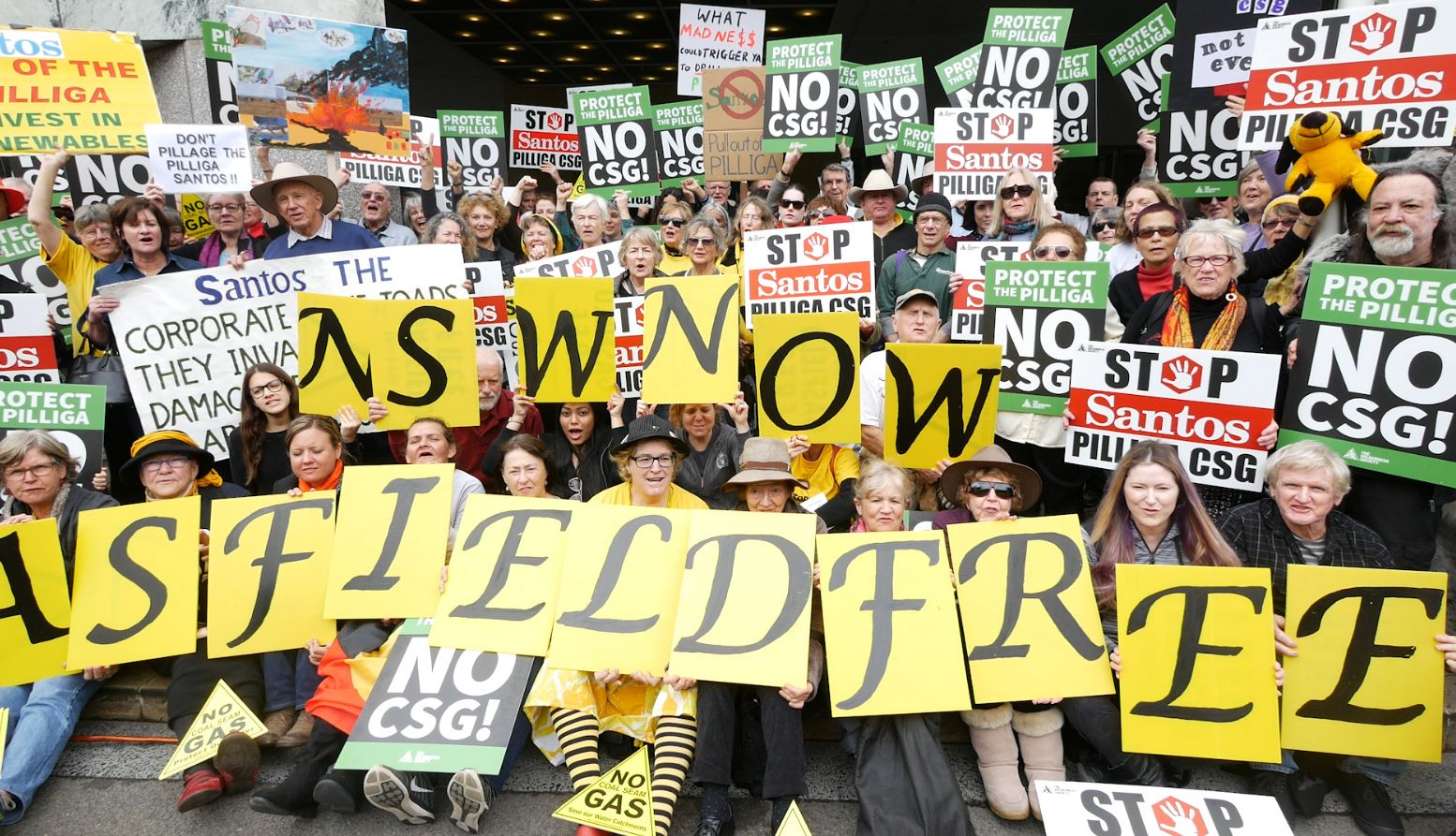Pilliga Protest: The Moment 200 Farmers And Nannas Tell Santos To 'Frack