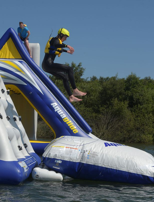 Total Wipeout style water park opens in Yorkshire