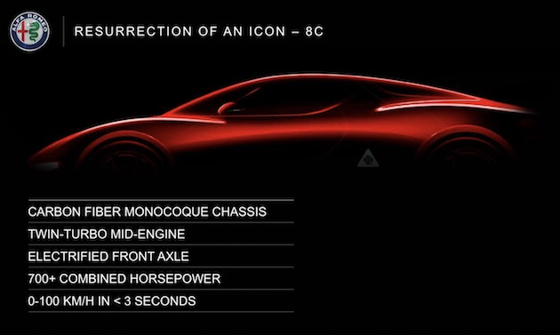 アルファ ロメオが2022年までの5カ年計画を発表 「8C」と「GTV」をハイブリッドとして復活させると宣言!