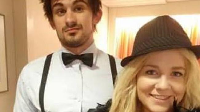 Cassandra Sainsbury with her fiance Scott Broadbridge. The couple were planning to wed in February next