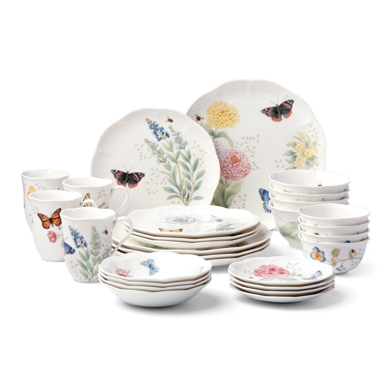 Lenox 28-Piece Butterfly Meadow Classic Dinnerware Set