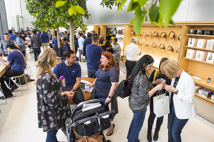 Apple sees its redesigned retail stores as community spaces