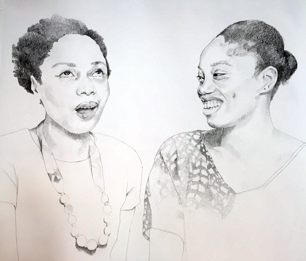 Portrait of Dainty Smith and Kyisha Williams by Syrus Marcus