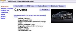 2015 Chevy Corvette order guide
