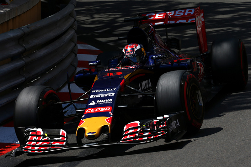 Toro Rosso driver Max Verstappen drives at the 2015 Monaco F1 Grand Prix.