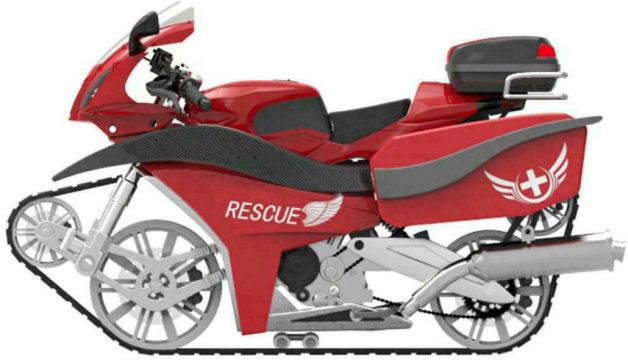 【レポート】中国の大学生が特許を申請したレスキュー用キャタピラバイク