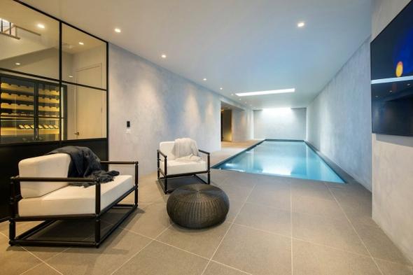 The basement pool