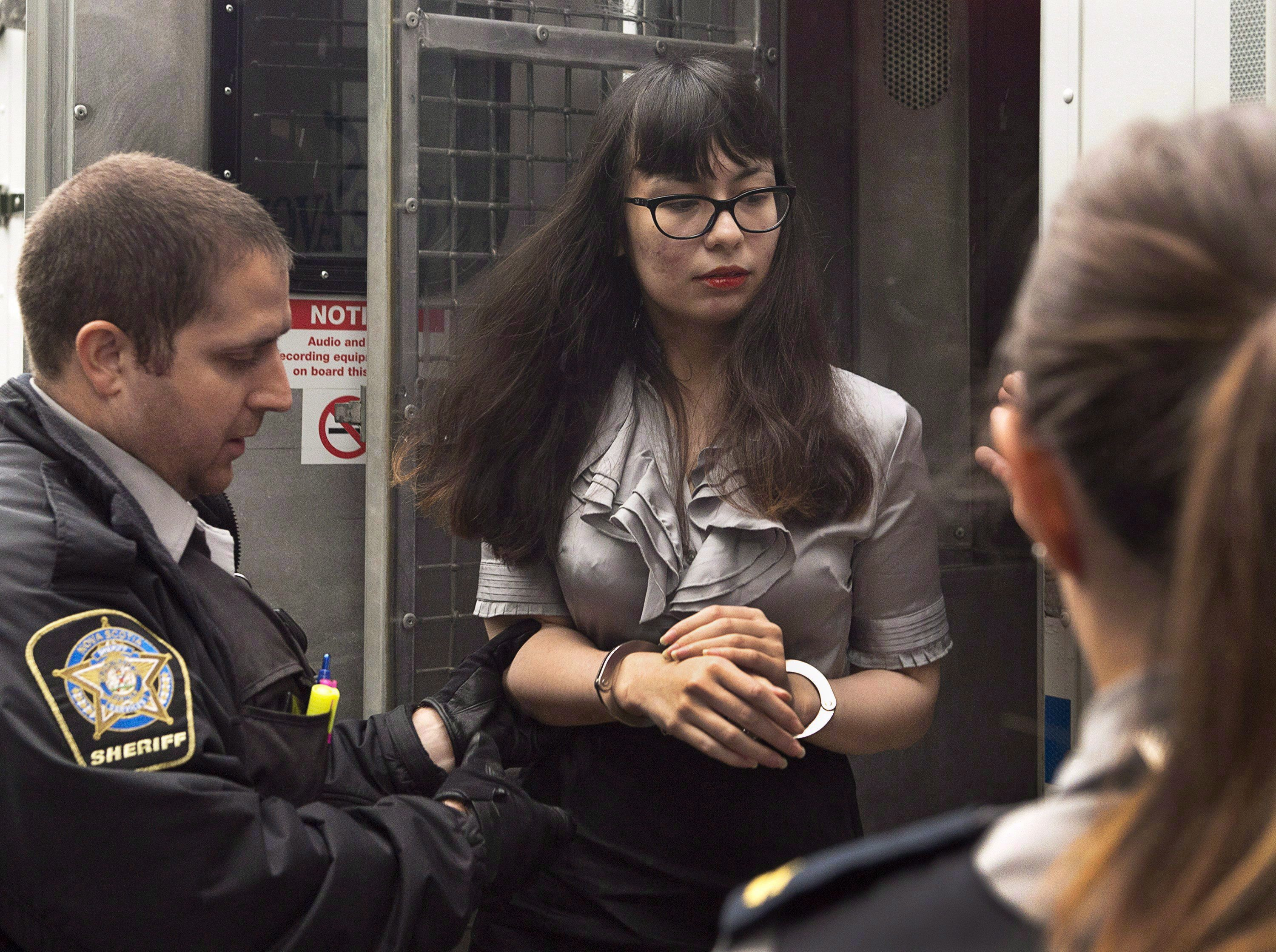 Lindsay Souvannarath arrives at provincial court for a preliminary hearing in Halifax on Wednesday, July...