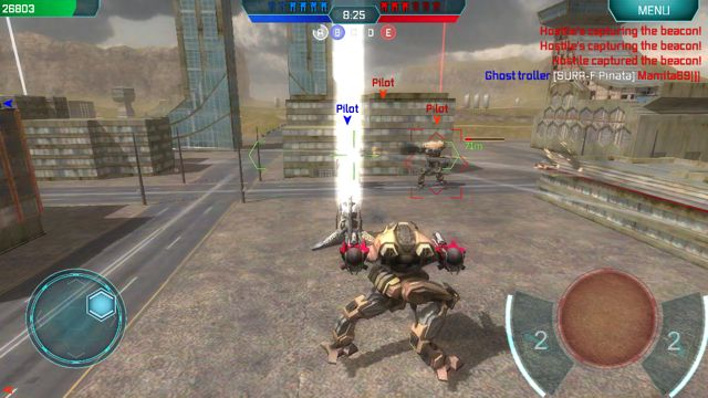 Robots face off against other robots in online battles to see who is the best in Walking War Robots