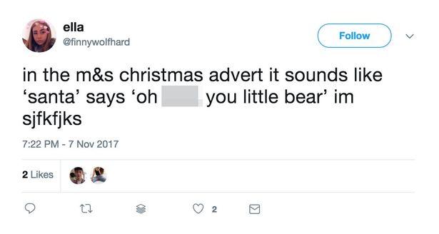 Does santa swear in new ad?