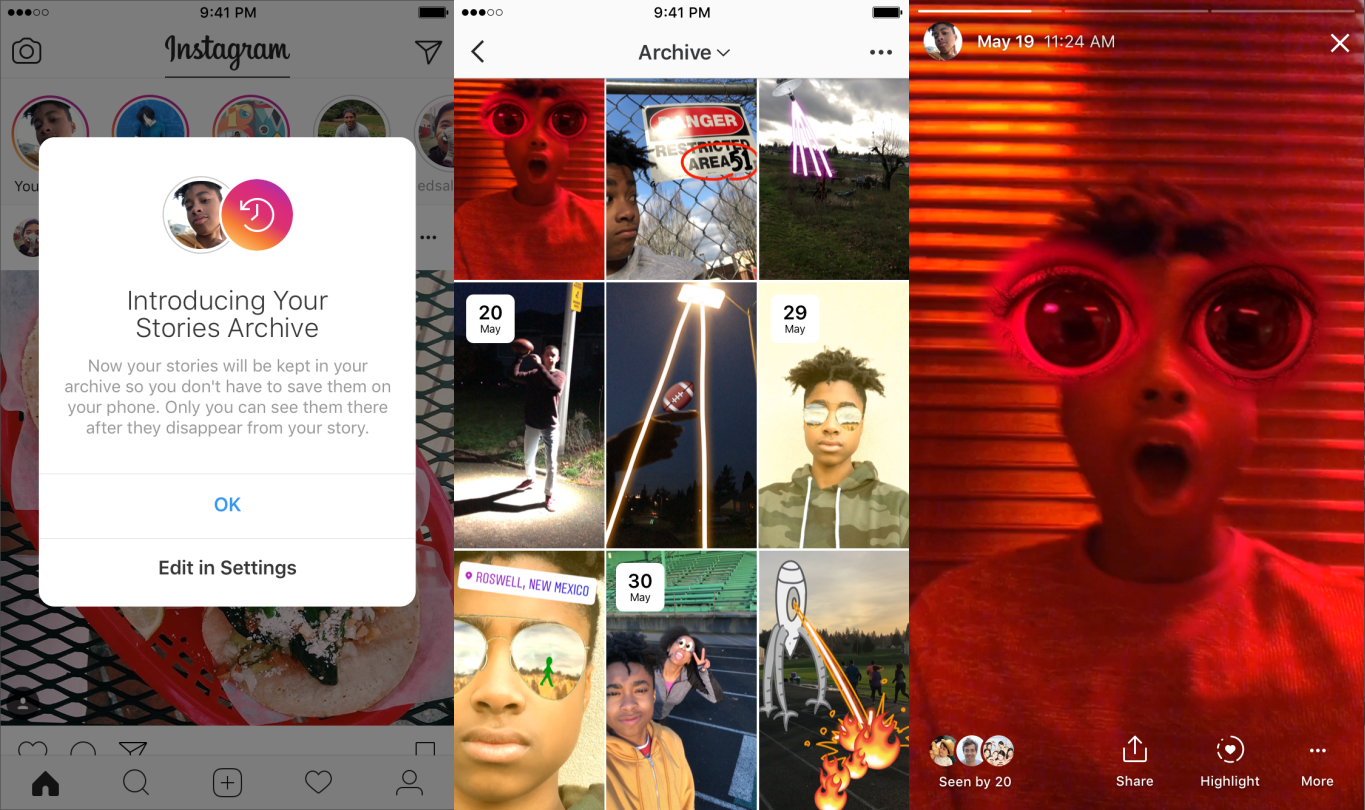 Instagram can now automatically archive your stories ccuart Images