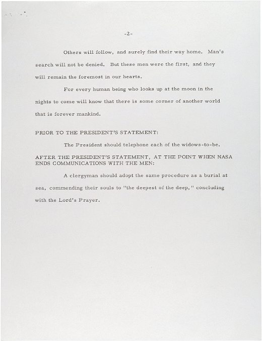 Here's the speech Nixon would've said if the Apollo 11 moon landing