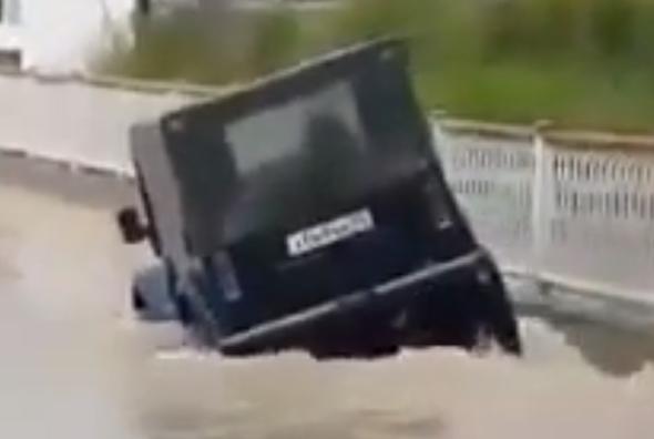 Flooded SUV