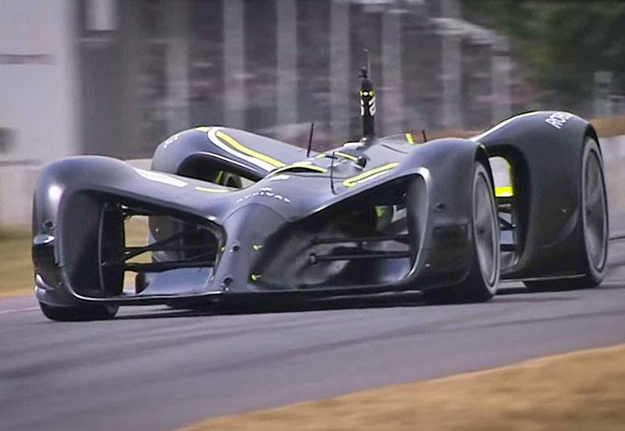 Watch a self-driving car complete Goodwood's legendary hill climb