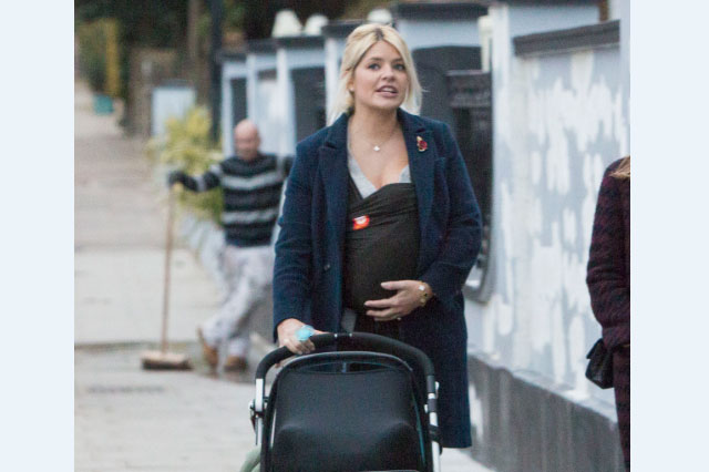 Holly Willoughby Takes Baby Chester For A Stroll With
