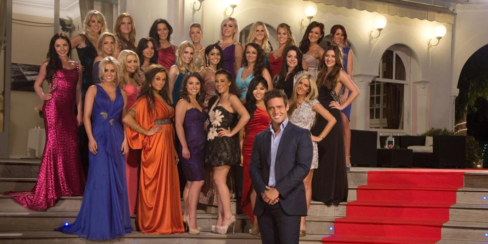 SPENCER MATTHEWS WITH THE 24 GIRLS WHO ARE COMPLETING FOR HIS AFFECTIONS IN THIS YEARS SERIES. BACK ROW (L-R) REBECCA, VICTORIA, SOPHIA, CHLOE, JENNIFER, JENEVA, RACHEL, SARAH, RACHEL BOON MIDDLE ROW (L-R) NATALIA, IRADIA, MEGAN, CHARLOTTE, AISHA, HELEN, KATRINA, ALEXIS FRONT ROW (L-R) KHLOE, BRANDY, DANIELLE, JESSICA, RENAY, MARISSA, JERRI