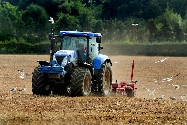 General view of tractor ploughing a field in Leicestershire. PRESS ASSOCIATION Photo. Picture date: Sunday September 1, 2013. See PA story FARM Ploughing. Photo credit should read: Rui Vieira/PA Wire