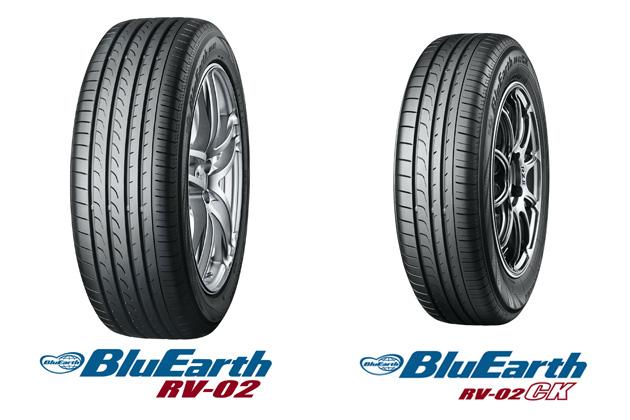 横浜ゴム、低燃費で雨に強いミニバン専用タイヤ「BluEarth RV-02」にハイト系コンパクトカー・軽自動車向け新製品とSUV向けサイズを追加