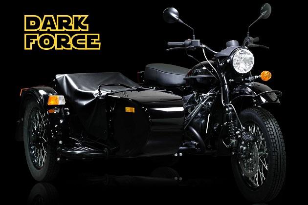 ダース・ベイダー仕様のオートバイ!? ウラルの限定モデル「ダークフォース」登場!