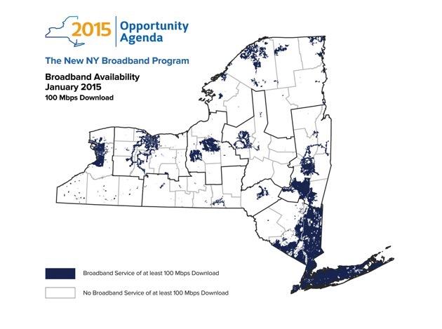 New York Broadband map
