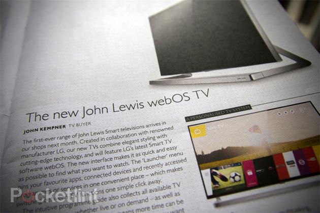 LG's webOS TVs for John Lewis