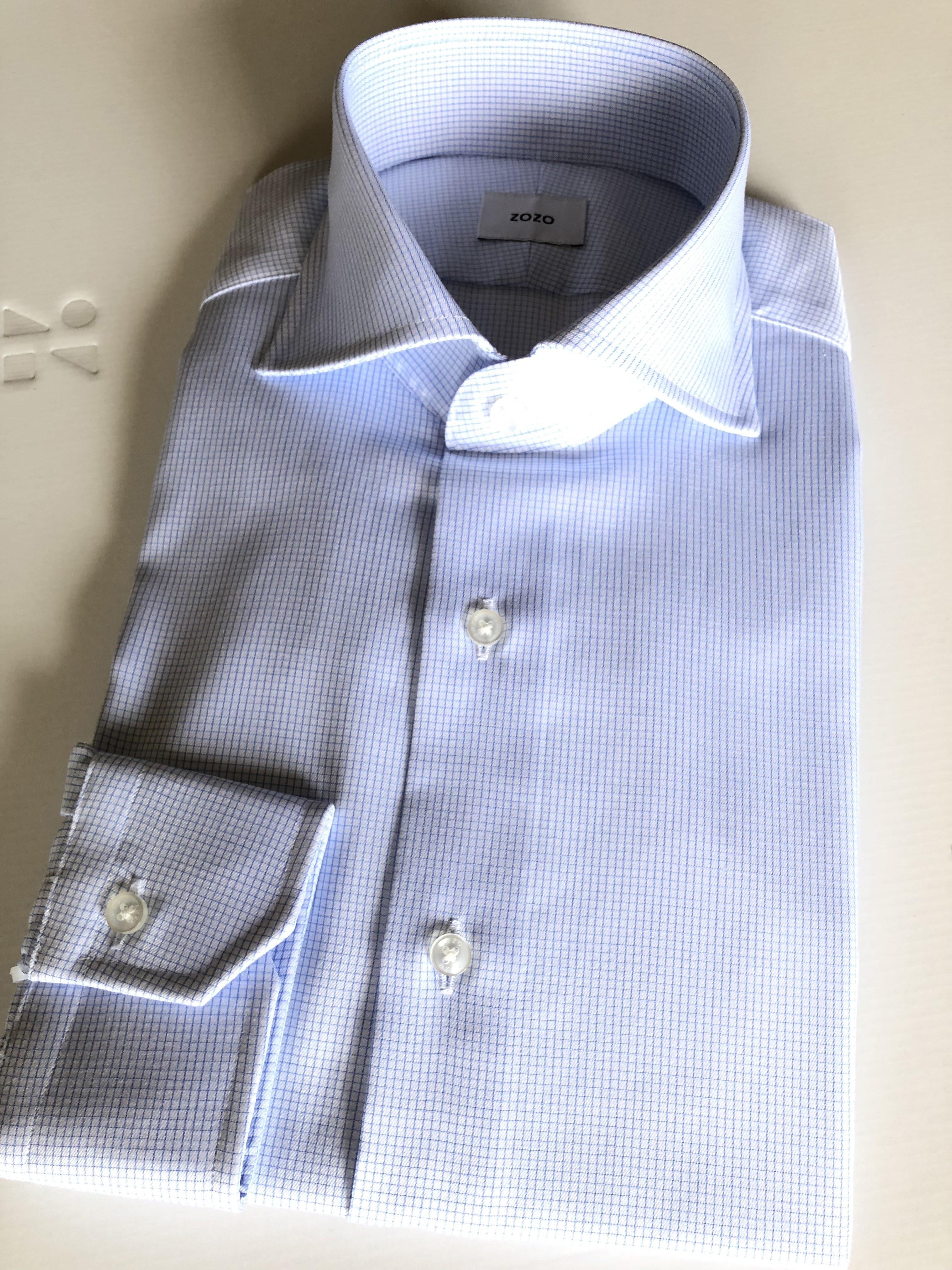 ZOZOのドレスシャツはカタマイズができるため、仕上がり寸法をみて確実にサイズが異なると思われる胸囲−3センチ、肩幅−1センチとしました。これは正解で、いずれも僕