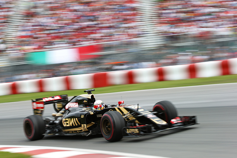 Romain Grosjean drives during the Canadian F1 grand prix.