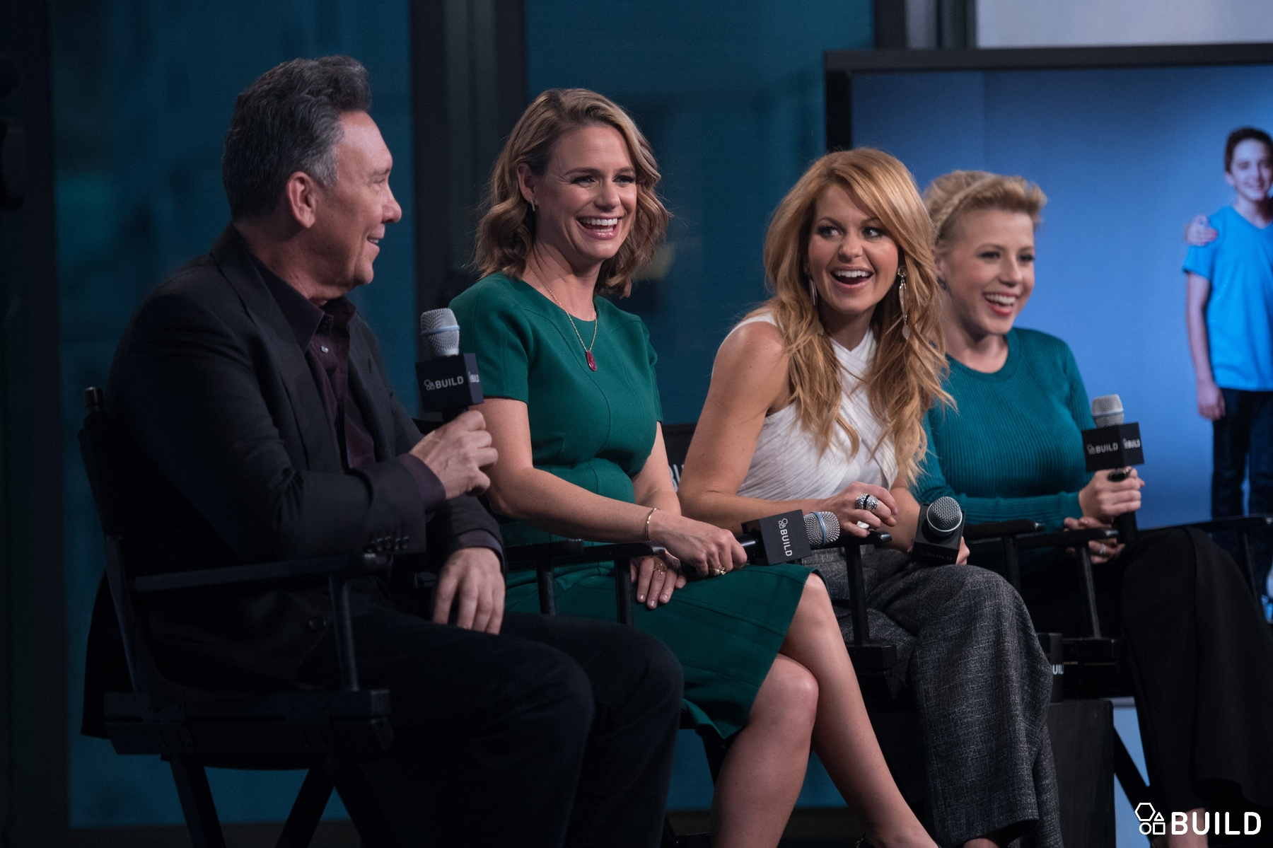 Candace Cameron Bure, Jodie Sweetin, Andrea Barber and Jeff Franklin visit AOL Hq for Build on February 25, 2016 in New York. Photos by Noam Galai
