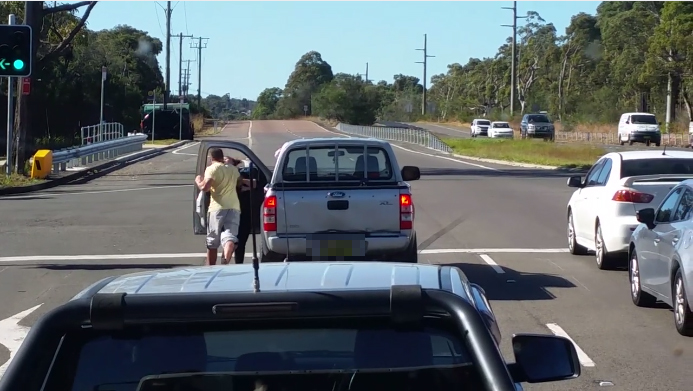 Man Seen Punching A Woman In Dashcam Footage Of NSW Road Rage