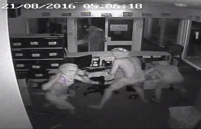 CCTV footage showing four men inside the