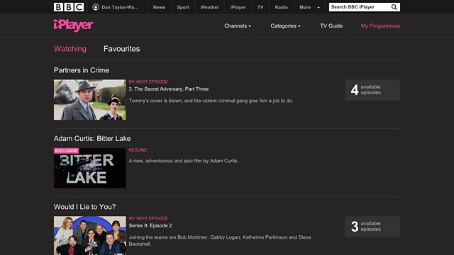 bbc iplayer  lets  pause  resume shows   devices