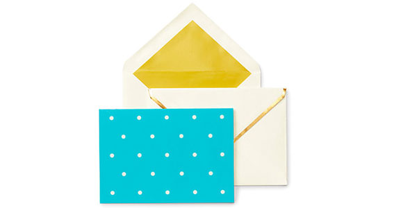 Stationery so cute youll want to write someone a letter kate spade larabee dot assorted notecard set spiritdancerdesigns Gallery