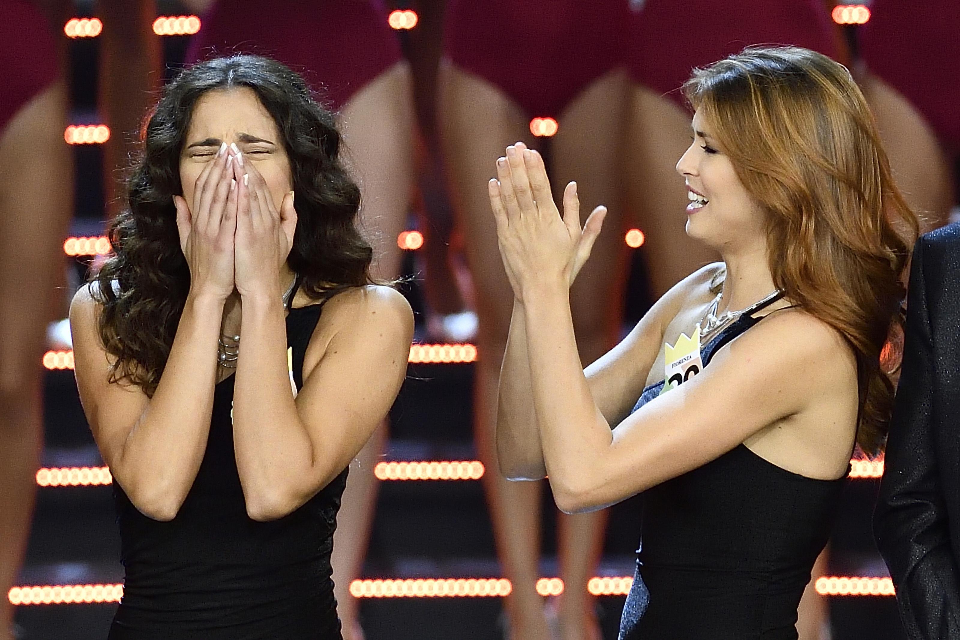 18/09/2018, Milano, finale di Miss Italia 2018. Nella foto, a sinistra, Carlotta Maggiorana, Miss Italia...